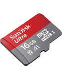 Carte microSDHC SanDisk Ultra U1 Class 10 - 16 Go 98MB/s