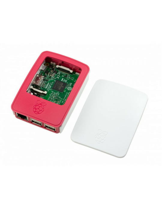 Boitiers - Boîtier officiel Raspberry Pi 3 blanc et rouge - 5