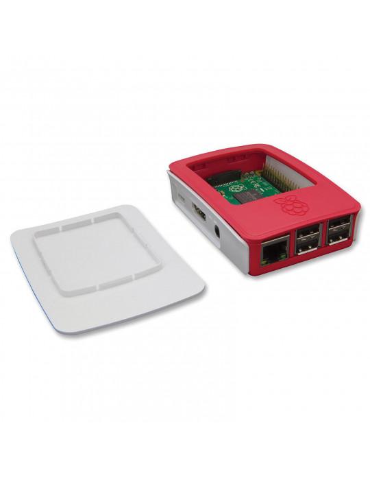 Boitiers - Boîtier officiel Raspberry Pi 3 blanc et rouge - 6
