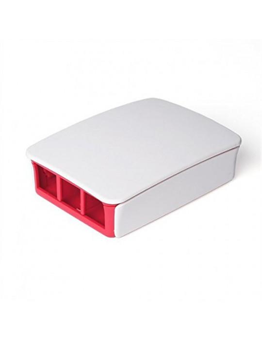 Boitiers - Boîtier officiel Raspberry Pi 3 blanc et rouge - 2