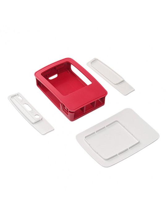 Boitiers - Boîtier officiel Raspberry Pi 3 blanc et rouge - 3