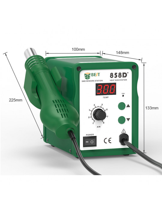 Outillage - Station à air chaud BEST 858D+ - 650W - 100 à 500°C - 3