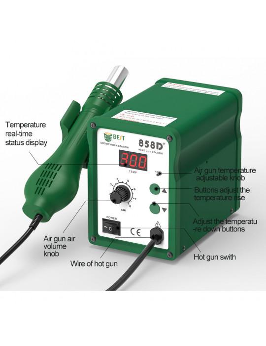 Outillage - Station à air chaud BEST 858D+ - 650W - 100 à 500°C - 2