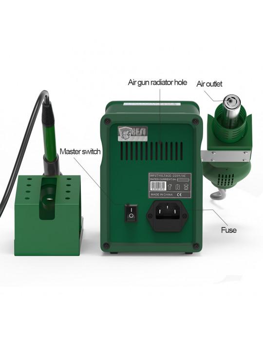 Stations & fers à souder - Station à souder Multifonctions BEST 898D+ - 780W- 100 à 450°C - 4