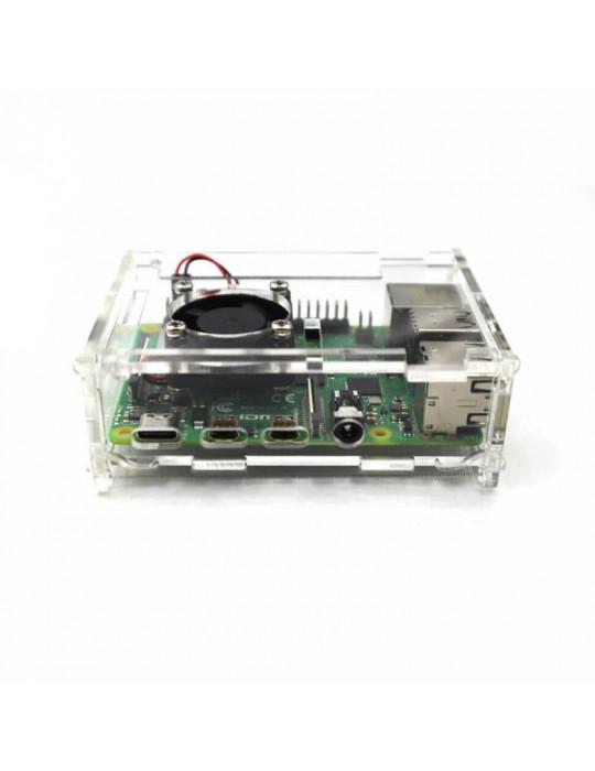 Boitiers - Boitier Raspberry Pi 4 Acrylique transparent - 2