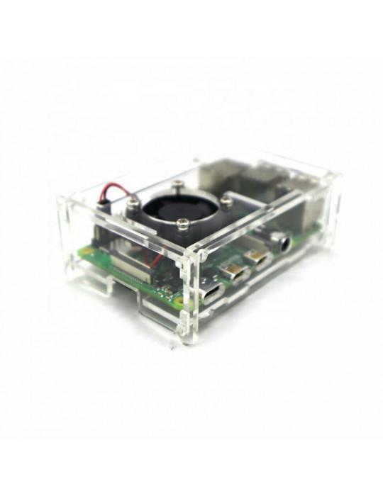 Boitiers - Boitier Raspberry Pi 4 Acrylique transparent - 4