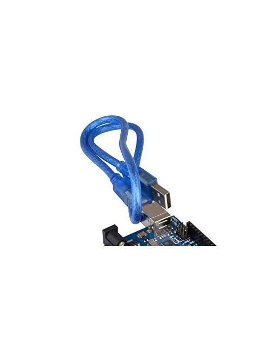 Connectiques / Câblages - Câble USB 1m blindé pour Arduino (ou autre !) - Bleu - 3