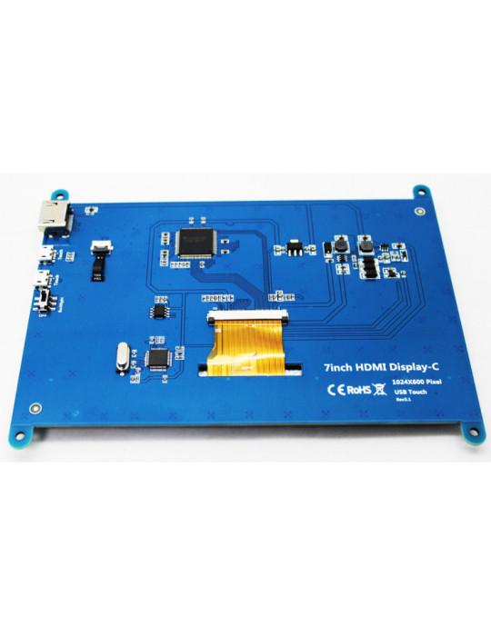 """Modules nanos-PC - Ecran LCD 7"""" Haute Résolution pour Raspberry Pi - Tactile HDMI - 5"""