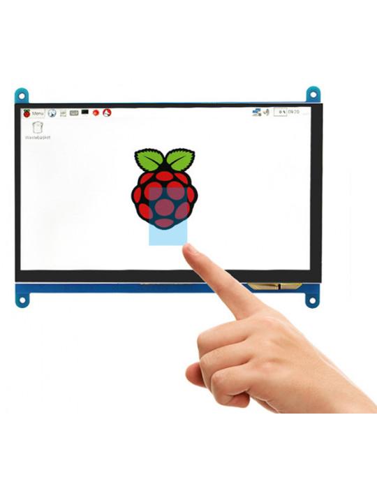"""Modules nanos-PC - Ecran LCD 7"""" Haute Résolution pour Raspberry Pi - Tactile HDMI - 1"""