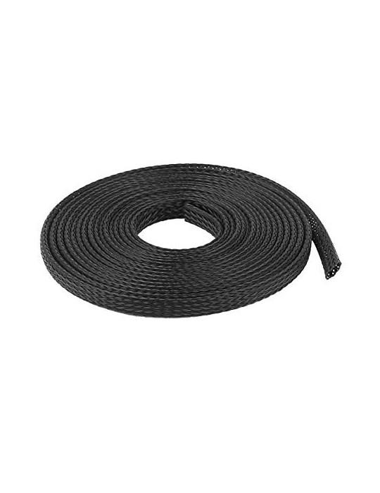 Gaines tressées - Gaine extensible diamètre 8 mm noir - au mètre - 4