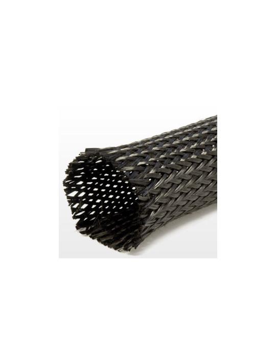 Gaines tressées - Gaine extensible diamètre 8 mm noir - au mètre - 2