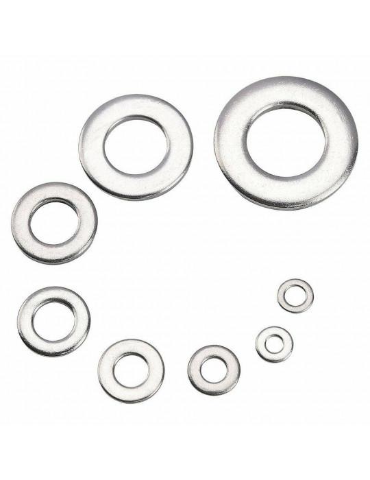 Rondelles - Rondelle plate M5 en acier de grade 3.8 (lot de 10 rondelles) - 1
