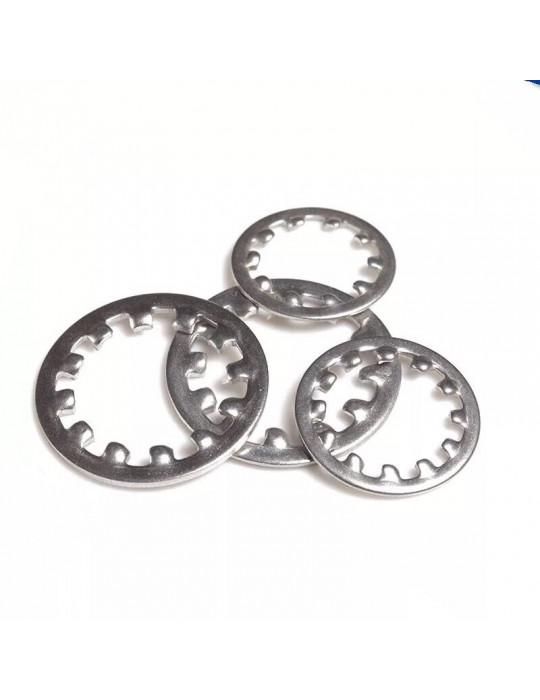 Rondelles - Rondelle à denture interne M3 en acier de grade 8.8 (lot de 10 rondelles) - 1