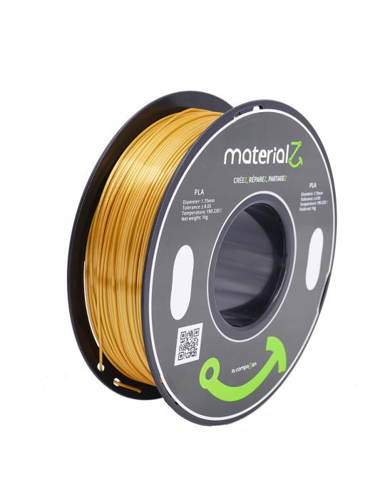 Filaments PLA - Filament PLA MaterialZ Ingeo 4032D 1,75mm - 1Kg Element Gold - (or) - 1