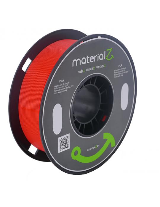 Filaments PLA - Filament PLA MaterialZ Ingeo 4032D 1,75mm - 1Kg Carmin Red (rouge) - 1