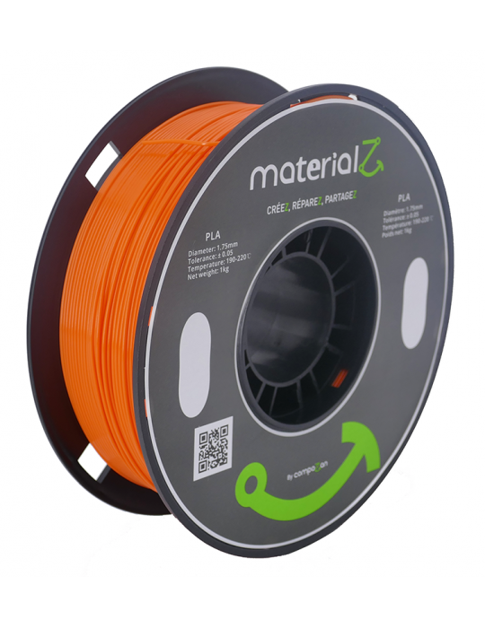 Filaments PLA - Filament PLA MaterialZ Ingeo 4032D 1,75mm - 1Kg Pumpkin Orange (orange) - 1