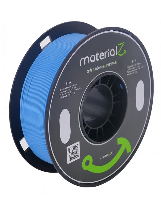 Filaments PLA - Filament PLA MaterialZ Ingeo 4032D 1,75mm - 1Kg Cobalt Blue (bleu) - 1