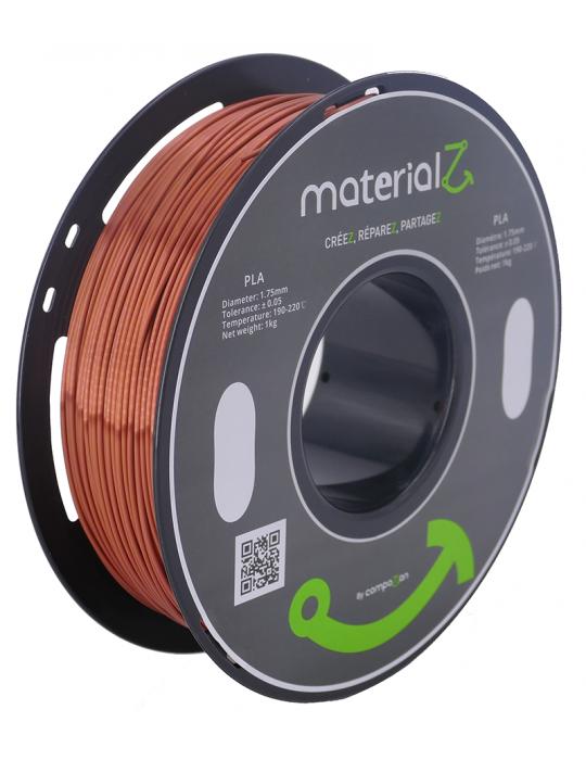 Filaments PLA - Filament PLA MaterialZ Ingeo 4032D 1,75mm - 1Kg Element Copper (cuivre) - 1