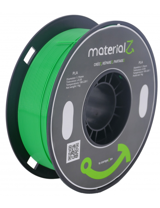 Filaments PLA - Filament PLA MaterialZ Ingeo 4032D 1,75mm - 1Kg Meadow Green (vert) - 1