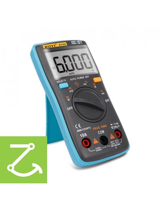 Mesures - Multimètre numérique True RMS ZT101 AC/DC 1000V 10A 6000 points - 1