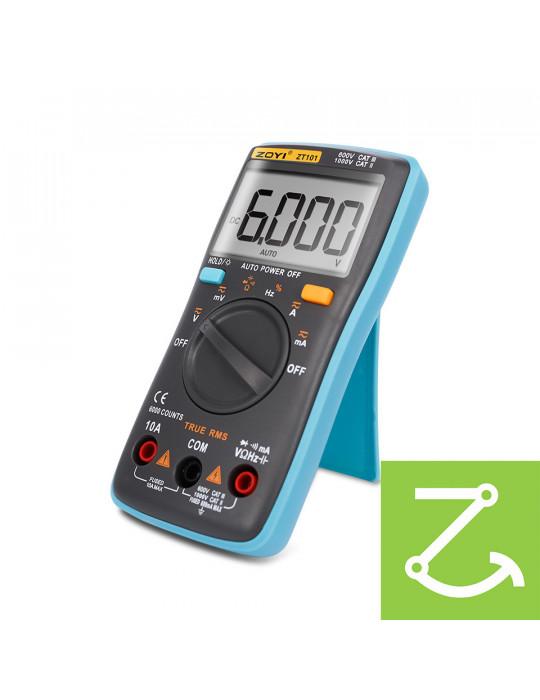 Mesures - Multimètre numérique True RMS ZT101 AC/DC 1000V 10A 6000 points - 4