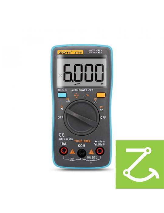 Mesures - Multimètre numérique True RMS ZT101 AC/DC 1000V 10A 6000 points - 5