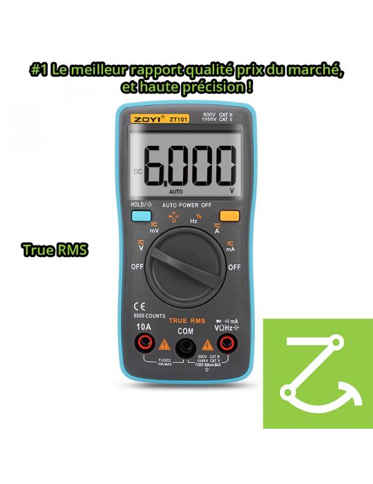 Mesures - Multimètre numérique True RMS ZT101 AC/DC 1000V 10A 6000 points - 6