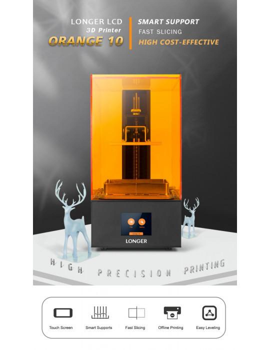 SLA, LCD - Imprimante 3D Longer3D Orange 10 - LCD 140x98x55mm à résine haute précision - 8