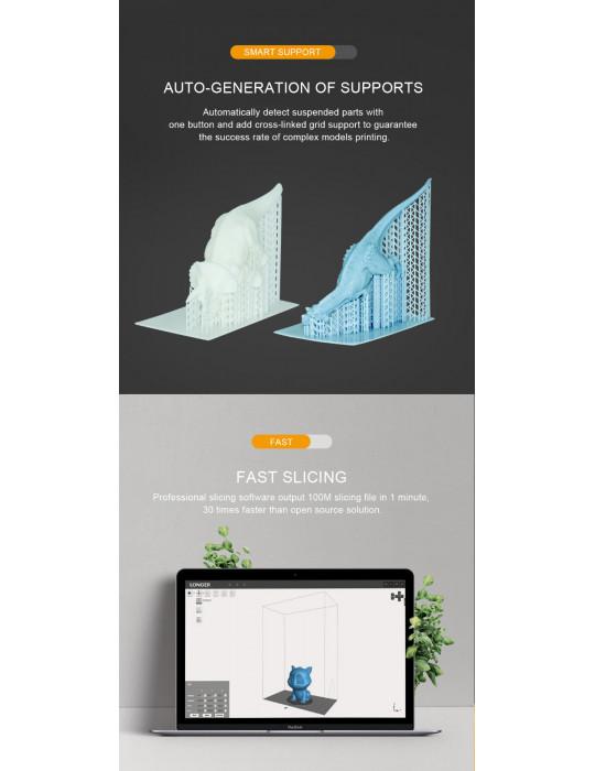 SLA, LCD - Imprimante 3D Longer3D Orange 10 - LCD 140x98x55mm à résine haute précision - 9