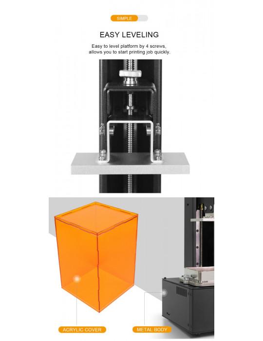 SLA, LCD - Imprimante 3D Longer3D Orange 10 - LCD 140x98x55mm à résine haute précision - 12