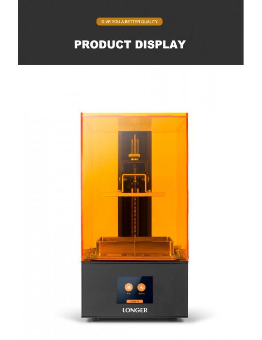 SLA, LCD - Imprimante 3D Longer3D Orange 10 - LCD 140x98x55mm à résine haute précision - 13