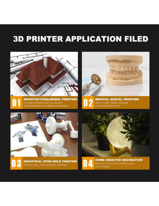 SLA, LCD - Imprimante 3D Longer3D Orange 10 - LCD 140x98x55mm à résine haute précision - 18