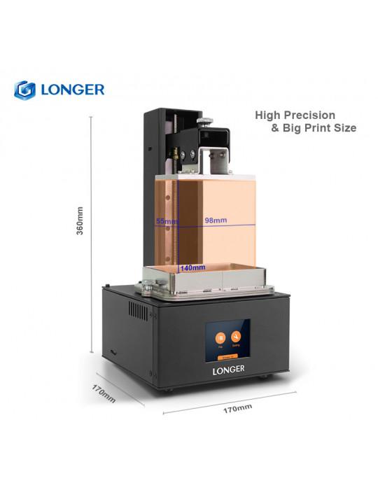 SLA, LCD - Imprimante 3D Longer3D Orange 30 - LCD 2K - 120x68x170mm à résine haute précision HD - 6