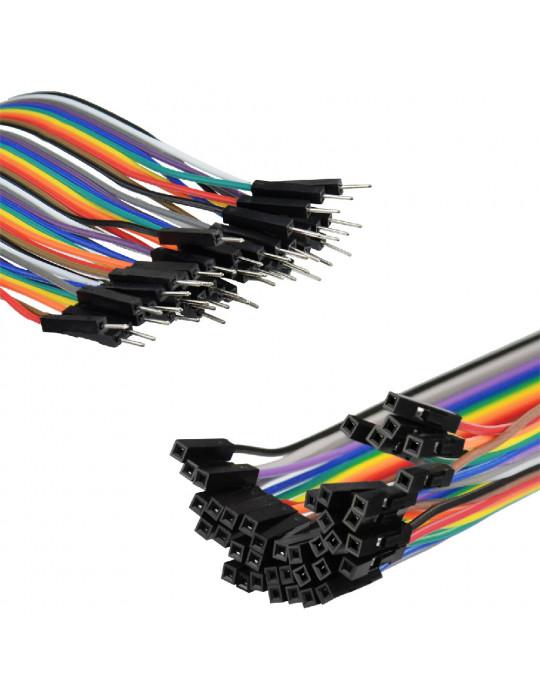 Connectiques / Câblages - Rallonge de câble GPIO Mâle / Femelle - 30 cm - 2