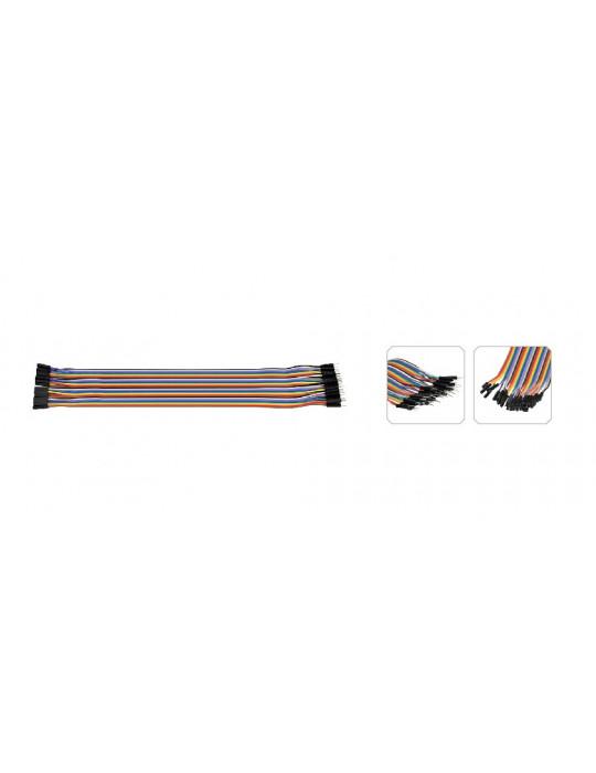 Connectiques / Câblages - Rallonge de câble GPIO Mâle / Femelle - 30 cm - 3