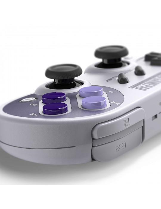 Manettes - Manette de jeux rétro 8bitDo SN30 Pro - SNES Sticks analogiques sans fil - 2