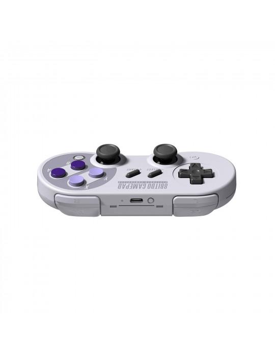 Manettes - Manette de jeux rétro 8bitDo SN30 Pro - SNES Sticks analogiques sans fil - 3