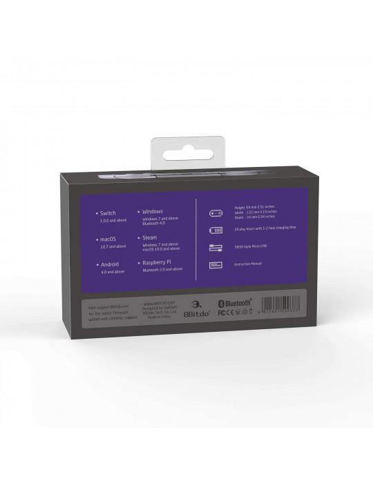 Manettes - Manette de jeux rétro 8bitDo SN30 Pro - SNES Sticks analogiques sans fil - 4