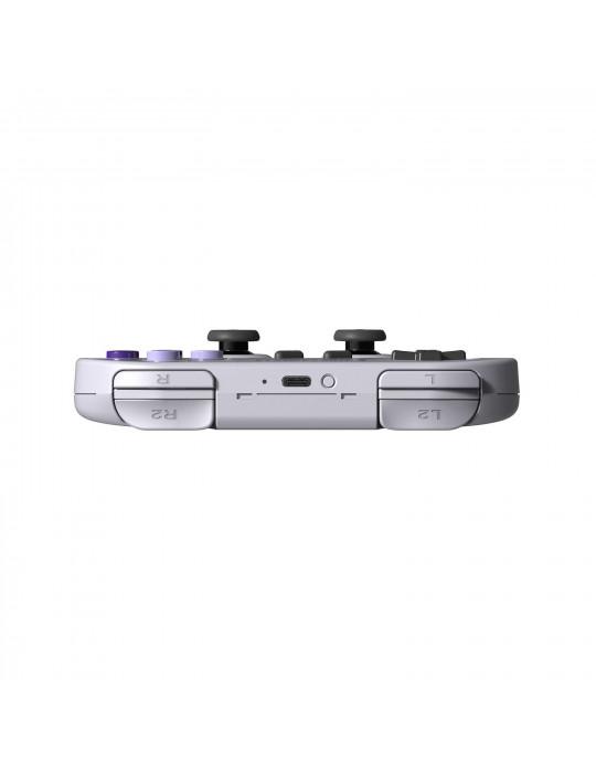 Manettes - Manette de jeux rétro 8bitDo SN30 Pro - SNES Sticks analogiques sans fil - 7