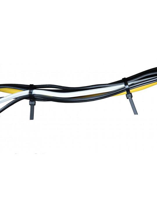 Cable management - Collier de serrage noir 2.5 x 100 mm - lot de 10 - 2