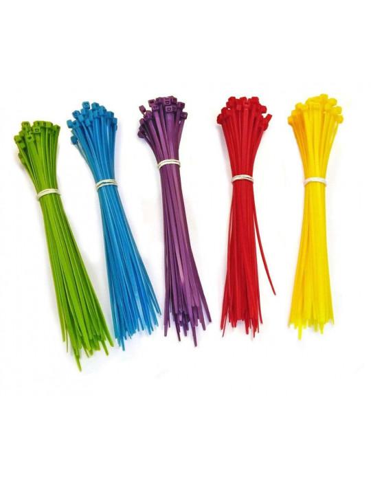 Cable management - Collier de serrage bleu 3 x 200 mm - lot de 10 - 2