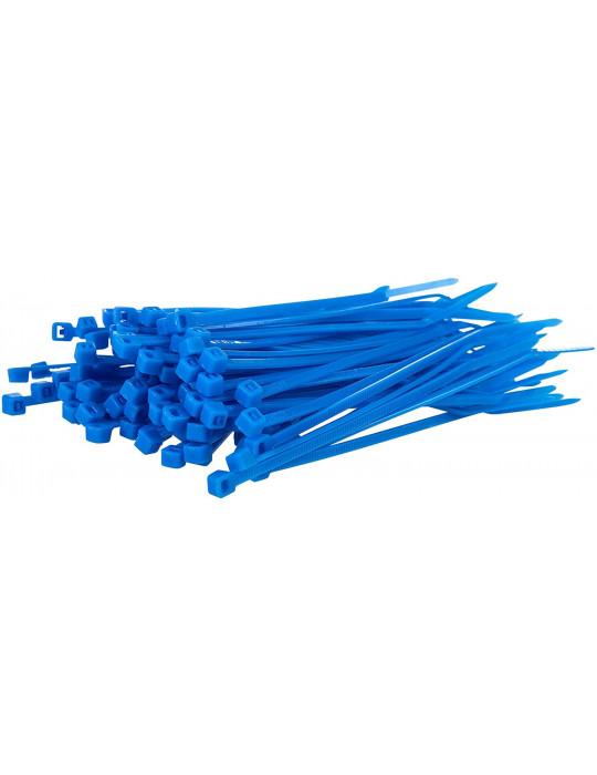 Cable management - Collier de serrage bleu 3 x 200 mm - lot de 10 - 1