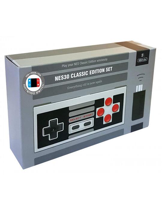 Manettes - Manette de jeux rétro 8bitDo NES30 - NES sans fil avec dock USB - 2