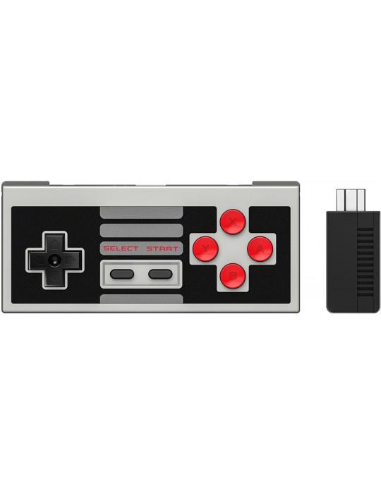Manettes - Manette de jeux rétro 8bitDo NES30 - NES sans fil avec dock USB - 3