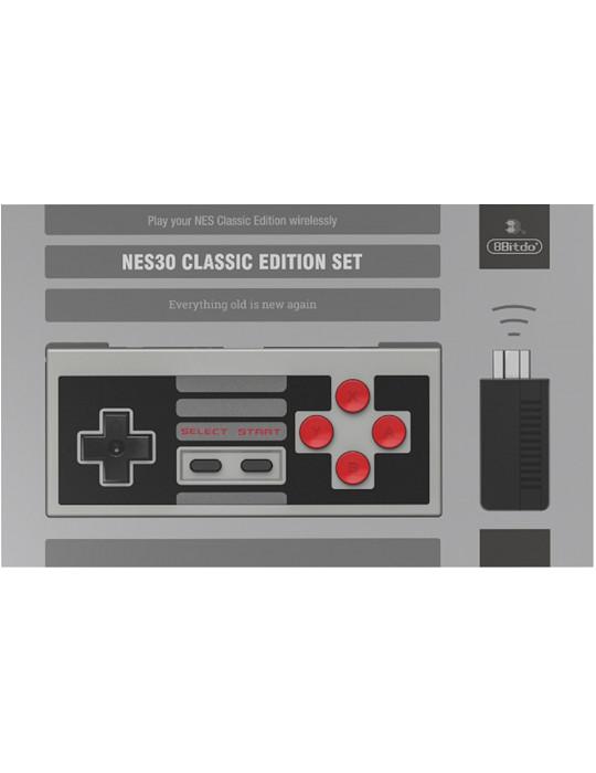 Manettes - Manette de jeux rétro 8bitDo NES30 - NES sans fil avec dock USB - 4