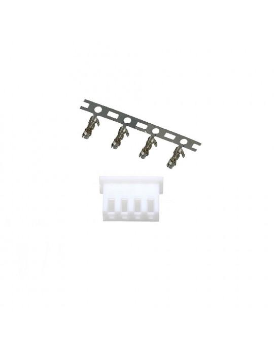 Connecteurs - Connecteur JST-HX 4 broches femelle - lot de 10 - 1