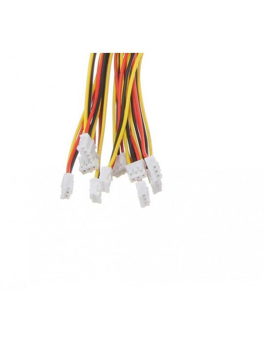 Connecteurs - Connecteur JST-HX 3 broches femelle - lot de 10 - 2
