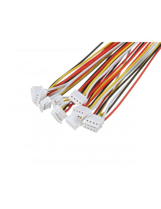 Connecteurs - Connecteur JST-HX 4 broches femelle - lot de 10 - 2