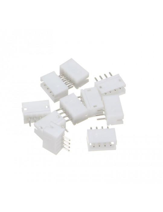 Connecteurs - Connecteur JST-HX 4 broches mâle droit - lot de 10 - 2