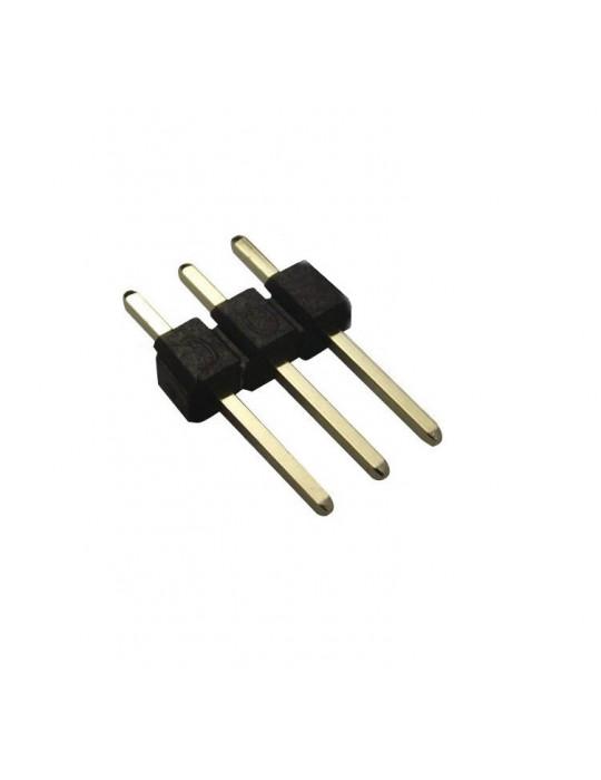 Connecteurs - Connecteur DuPont 3 broches mâle droit - lot de 10 - 1